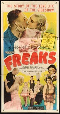 2f498 FREAKS 3sh R49 Tod Browning classic, the story of the love life of the sideshow!