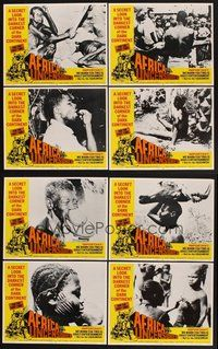 2g035 AFRICA UNCENSORED 8 LCs '72 Africa ama, wild images from mondo documentary!