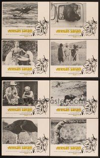 2g036 AFRICAN SAFARI 8 LCs '69 jungle documentary, cool images of deadly wild animals!