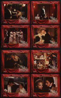 2g038 AGE OF INNOCENCE 8 LCs '93 Martin Scorsese, Day-Lewis, Winona Ryder, Michelle Pfeiffer!