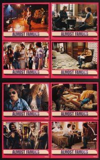 2g048 ALMOST FAMOUS 8 LCs '00 Cameron Crowe directed, pretty Kate Hudson, Philip Seymour Hoffman!