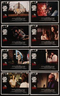 2g054 AMITYVILLE HORROR 8 LCs '79 great image of haunted house, for God's sake get out!