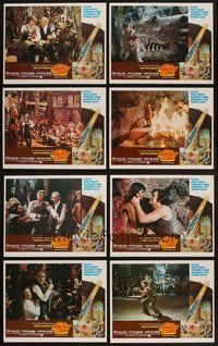 2g074 AT THE EARTH'S CORE 8 LCs '76 Edgar Rice Burroughs, Caroline Munro, Peter Cushing, AIP!