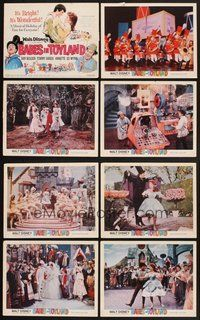 2g079 BABES IN TOYLAND 8 LCs '61 Walt Disney, Ray Bolger, Tommy Sands, Annette, musical!