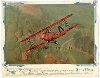 2j023 ACES HIGH English LC '76 really cool image of World War I bi-plane in flight!