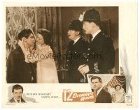 2j005 12 DESPERATE HOURS LC '57 two cops watch George Baker & Simone Simon about to kiss!