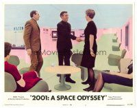 2j007 2001: A SPACE ODYSSEY LC #3 R72 Stanley Kubrick, passengers on luxurious space station!
