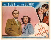 2j008 21 DAYS TOGETHER LC '40 wonderful close up of Vivien Leigh & Laurence Olivier!