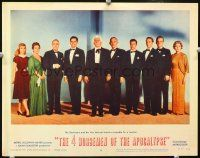 2j011 4 HORSEMEN OF THE APOCALYPSE LC #8 '61 cool image of cast!