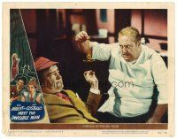 2j014 ABBOTT & COSTELLO MEET THE INVISIBLE MAN LC #4 '51 Paul Maxey tries to hypnotize Lou!