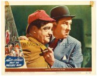2j015 ABBOTT & COSTELLO MEET THE INVISIBLE MAN LC #5 '51 best close up of scared Bud & Lou!