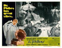 2j017 ABOMINABLE DR. PHIBES LC #4 '71 wacky image of bats hanging in creepy bedroom!
