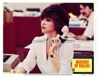 2j018 ABSENCE OF MALICE LC #7 '81 cool image of pretty Sally Field on phone!