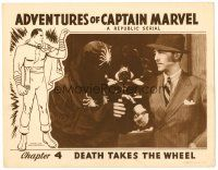 2j027 ADVENTURES OF CAPTAIN MARVEL chapter 4 LC '41 great close up of the evil masked Scorpion!