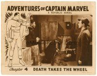2j026 ADVENTURES OF CAPTAIN MARVEL chapter 4 LC '41 great border art of the superhero in costume!