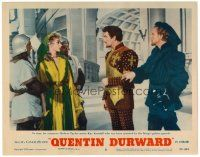 2j028 ADVENTURES OF QUENTIN DURWARD LC #8 '55 Robert Taylor has no time to romance Kay Kendall!