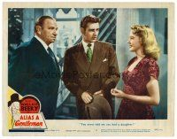 2j033 ALIAS A GENTLEMAN LC #2 '48 Tom Drake between Dorothy Patrick & Wallace Beery!
