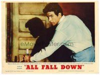 2j035 ALL FALL DOWN LC #2 '62 young Warren Beatty isn't man enough to be faithful to one woman!