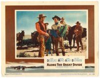 2j037 ALONG THE GREAT DIVIDE LC #4 '51 Kirk Douglas carrying unconscious man talks to James Anderson