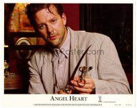 2j042 ANGEL HEART LC #1 '87 best close up of Mickey Rourke with dagger, directed by Alan Parker!