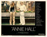 2j047 ANNIE HALL LC #4 '77 full-length Woody Allen & Diane Keaton, a nervous romance!