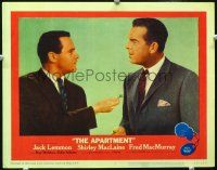 2j049 APARTMENT LC #7 '60 Billy Wilder, Jack Lemmon giving key to Fred MacMurray!