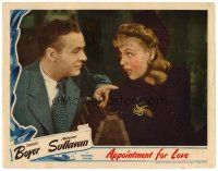 2j050 APPOINTMENT FOR LOVE LC '41 close up of Charles Boyer & pretty Margaret Sullavan!