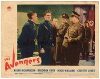 2j060 AVENGERS LC '42 Griffith Jones looks stumped by what Nazi Francis L. Sullivan is doing!