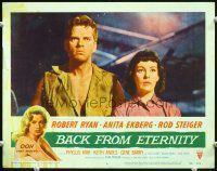 2j063 BACK FROM ETERNITY LC #6 '56 super close up of that sexy Keith Andes & Phyllis Kirk!
