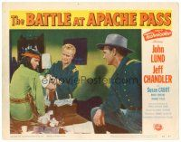 2j071 BATTLE AT APACHE PASS LC #8 '52 Regis Toomey bandages Native American Jeff Chandler as Cochise