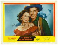 2j074 BEAST OF HOLLOW MOUNTAIN LC #2 '56 romantic close up of Guy Madison & Patricia Medina!