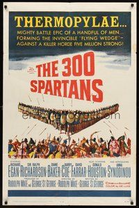 2p007 300 SPARTANS 1sh '62 Richard Egan, the mighty battle of Thermopylae!