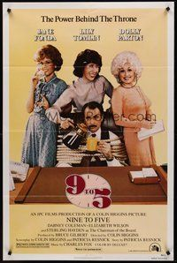 2p012 9 TO 5 1sh '80 Dolly Parton, Jane Fonda & Lily Tomlin w/tied up Dabney Coleman!
