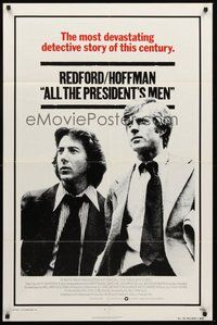 2p029 ALL THE PRESIDENT'S MEN int'l 1sh '76 Dustin Hoffman & Robert Redford as Woodward & Bernstein!
