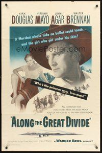 2p030 ALONG THE GREAT DIVIDE 1sh '51 Kirk Douglas, Virginia Mayo, who's the prisoner now, law-man?