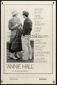 2p039 ANNIE HALL 1sh '77 full-length Woody Allen & Diane Keaton, a nervous romance!
