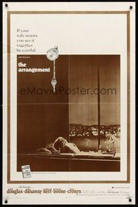 2p043 ARRANGEMENT 1sh '69 Kirk Douglas & Faye Dunaway, from director Elia Kazan's novel!