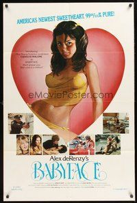 2p047 BABYFACE 1sh '77 classic Alex de Renzy, sexy art of America's newest sweetheart!