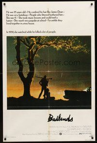 2p051 BADLANDS 1sh '74 Terrence Malick's cult classic, Martin Sheen & Sissy Spacek!