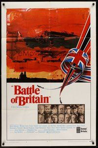 2p058 BATTLE OF BRITAIN style A 1sh '69 all-star cast in historical World War II battle!