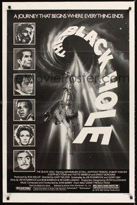 2p069 BLACK HOLE 1sh '79 Disney sci-fi, Schell, Anthony Perkins, Robert Forster & Yvette Mimieux!