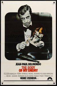 2p080 BODY OF MY ENEMY 1sh '77 Jean-Paul Belmondo, Henri Verneuil's Le corps de mon ennemi!
