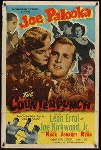 2p153 COUNTERPUNCH 1sh '49 Leon Errol, Joe Kirkwood Jr., as Joe Palooka, Elyse Knox!