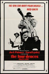2p255 FOUR DEUCES 1sh '75 gangster Jack Palance with Carol Lynley, Warren Berlinger!