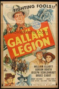 2p265 GALLANT LEGION kraftbacked 1sh '48 cool art of William