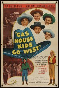 2p267 GAS HOUSE KIDS GO WEST 1sh '47 grown-up Carl 'Alfalfa' Switzer as a cowboy!