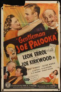 2p270 GENTLEMAN JOE PALOOKA 1sh '46 Joe Kirkwood Jr, Ham Fisher art, boxing comedy!