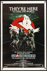2p272 GHOSTBUSTERS int'l 1sh '84 Bill Murray, Aykroyd & Harold Ramis are here to save the world!