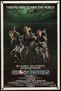 2p271 GHOSTBUSTERS 1sh '84 Bill Murray, Aykroyd & Harold Ramis are here to save the world!