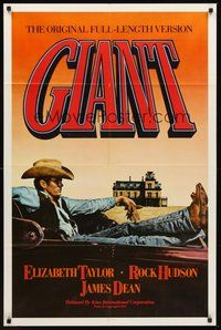 2p273 GIANT 1sh R83 James Dean, Elizabeth Taylor, Rock Hudson, directed by George Stevens!
